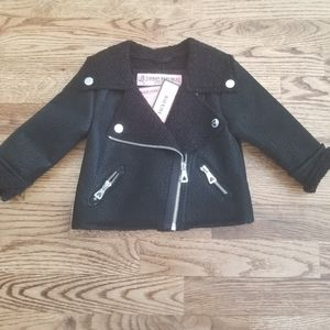 Urban Republic Motorcycle Jacket with Faux Fur